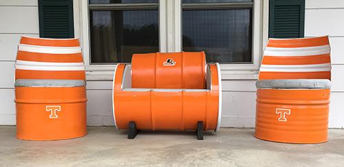 drum furniture 55 gal 55 gallon drum furniture caddywhompus wood designs